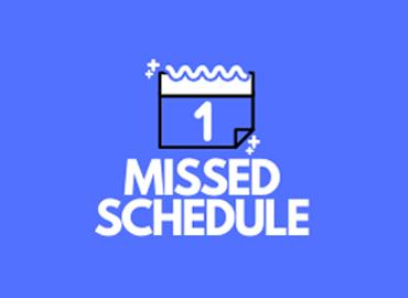 Error Missed Schedule Post